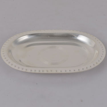 Silver Plated 5 Pcs Tray & Bowl Set with Spoon