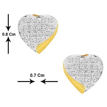 Spargz CZ Stone Designer Hurt Earrings - White _AIER286