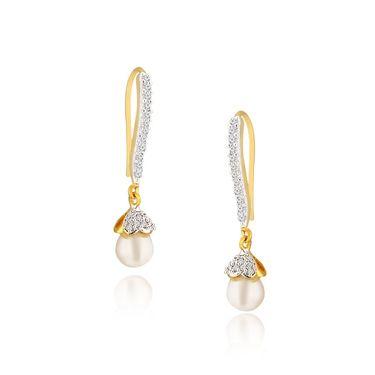 Spargz Designer Earrings - White _AIER415