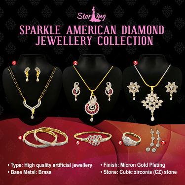 Sparkle American Diamond Jewellery Collection by Sterling