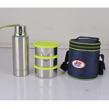 Steel Lunch Box & Steel Water Bottle Combo