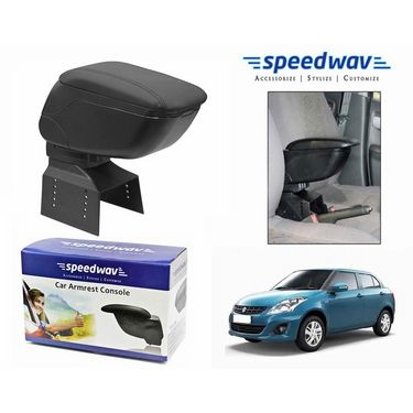 Speedwav Car Armrest Console Black Color- Maruti Swift Dzire New