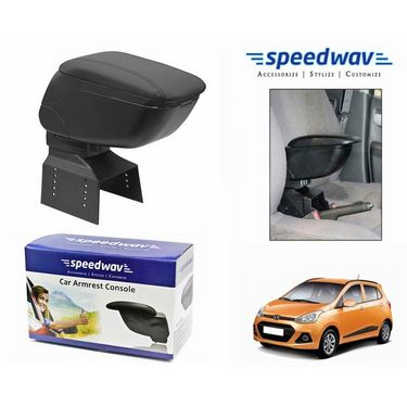 Speedwav Car Armrest Console Black Color- Hyundai Grand i10