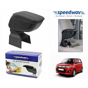 Speedwav Car Armrest Console Black Color- Maruti Wagon R Stingray
