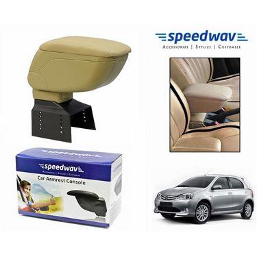 Speedwav Car Armrest Console Beige Color- Toyota Etios Liva