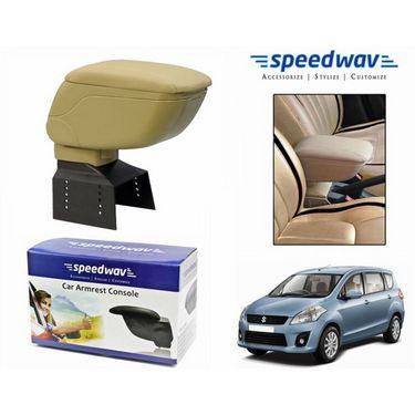 Speedwav Car Armrest Console Beige Color- Maruti Ertiga