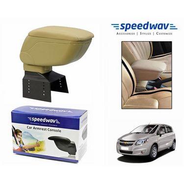 Speedwav Car Armrest Console Beige Color- Chevrolet Sail UVA