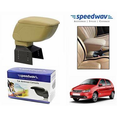 Speedwav Car Armrest Console Beige Color- Tata Indica Ev2
