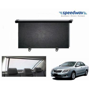 Speedwav Car Rear Window Roller Sunshade 100cm Black- Toyota Corolla Altis