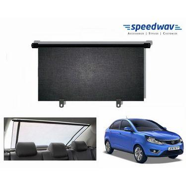 Speedwav Car Rear Window Roller Sunshade 90cm Black- Tata Zest