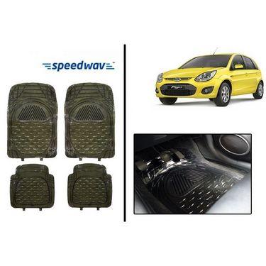 Speedwav Transparent Black Car Floor / Foot Mats - Ford Figo