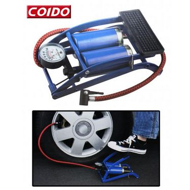 Coido Twin Cylinders Tyre / Ball Inflator Foot Pump Compressor available at Naaptol for Rs.899