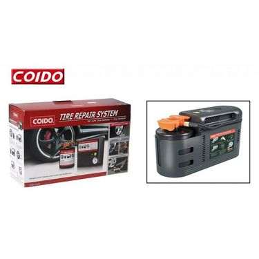 Coido 2411 Complete Car Tyre Puncture Repair System - Sealant + Inflator