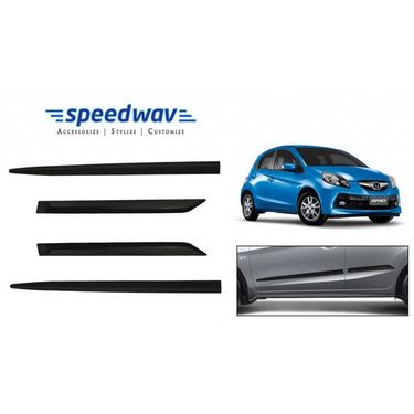 Speedwav Car Original Side Beading Matt BLACK - Honda Brio