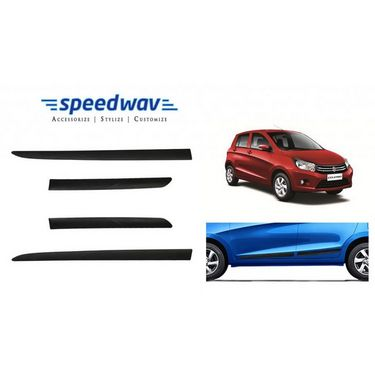 Speedwav Car Original Side Beading Matt BLACK - Maruti Celerio