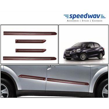Speedwav Custom Fit Car Side Beading RED & Chrome -Honda Amaze