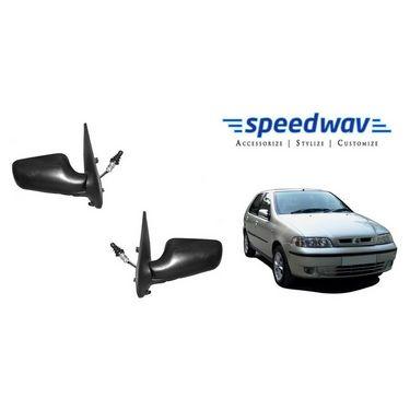 Speedwav Car Side Rear View Mirror Assembly SET OF 2 - Fiat Palio