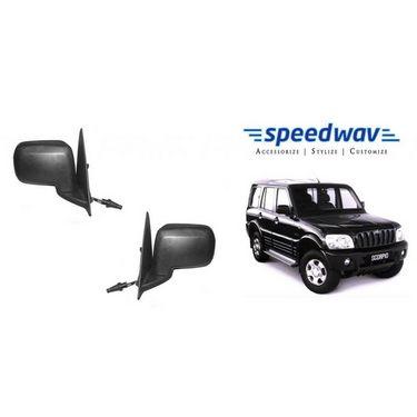 Speedwav Car Side Rear View Mirror Assembly SET OF 2 - Mahindra Scorpio