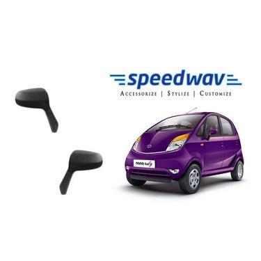 Speedwav Car Side Rear View Mirror Assembly SET OF 2 - Tata Nano