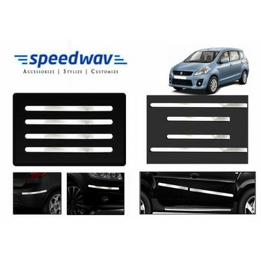 Speedwav Full Chrome Bumper Protector + Side beading -Maruti Ertiga