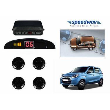 Speedwav Reverse Car Parking Sensor LED Display BLACK-Maruti New Alto 800
