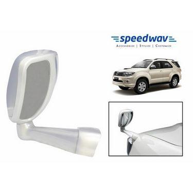 Speedwav Front Fender SUV Wide Angle Mirror WHITE- Toyota Fortuner