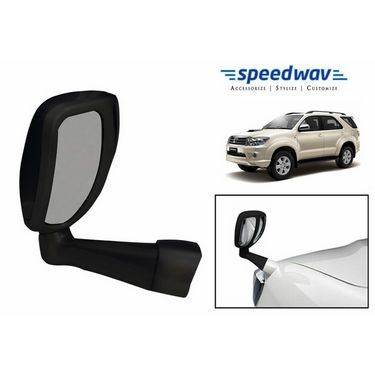 Speedwav Front Fender SUV Wide Angle Mirror BLACK- Toyota Fortuner
