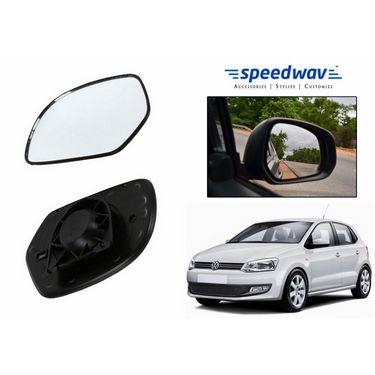 Speedwav Car Rear View Side Mirror Glass LEFT-Volkswagen Polo