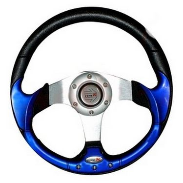 Sporty and Stylish Car Steering Wheel - Blue