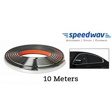Speedwav Side Window Stylish Chrome Beading Roll - 10 meter