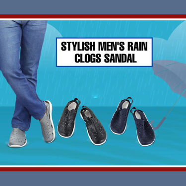 Stylish Men's Rain Sandals - Clogs