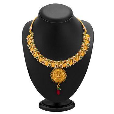 Sukkhi Divine Gold Plated Necklace Set - Golden - 2108NGLDPL6250