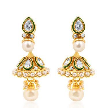 Sukkhi Ravishing & Fascinating Gold Plated Necklace Set - Golden - 2159NADV3500