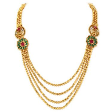 Sukkhi Trendy Gold Plated Necklace Set - Golden - 2163NGLDPV2750