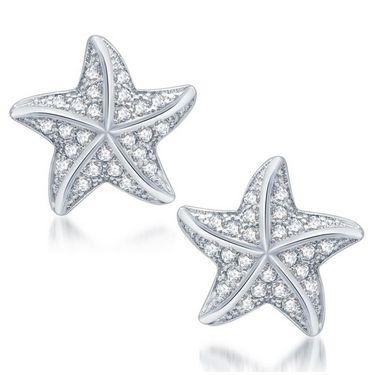 Sukkhi Fancy Rhodium Plated Earrings - White - 208EARSDPVTS550