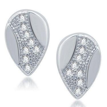 Sukkhi Exotic Rhodium Plated Earrings - White - 213EARSDPVTS300