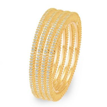 Sukkhi Ritzzy Set of 4 Gold Plated Bangles - Golden - 32019BADI1700