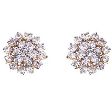 Sukkhi Gold & Rhodium Plated CZ Earrings_106G570