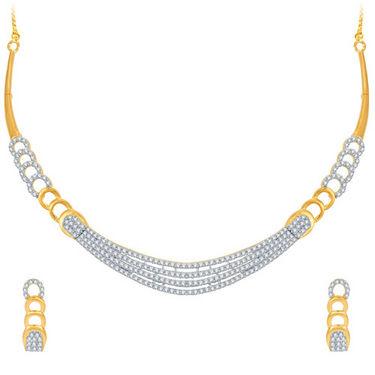 Sukkhi Stunning Gold and Rhodium Plated CZ Necklace Set