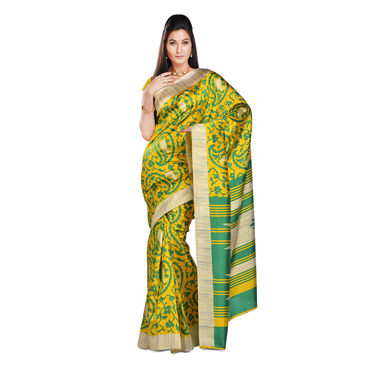 Sukriti Collection of 7 Printed Art Silk Sarees by Varanga (7A8) with 7 Free Jewellery