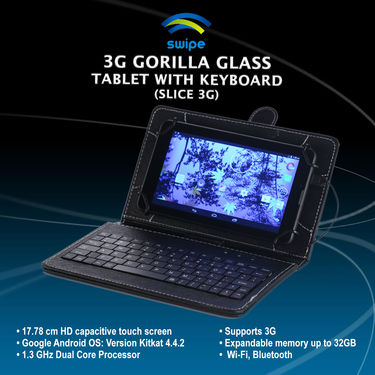 Swipe 3G Gorilla Glass Tablet with Keyboard (Slice 3G)