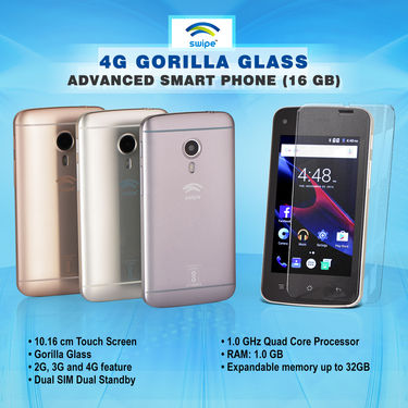 Swipe 4G Gorilla Glass Advanced Smart Phone (16 GB)