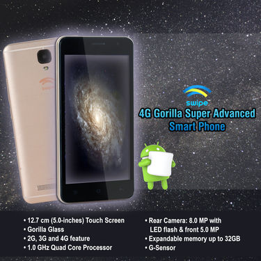 Swipe 4G Gorilla Super Advanced Smart Phone (B1)