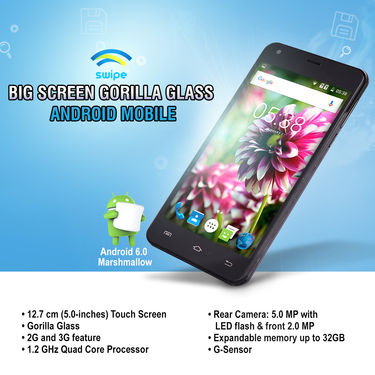 Swipe Big Screen Gorilla Glass Android Mobile