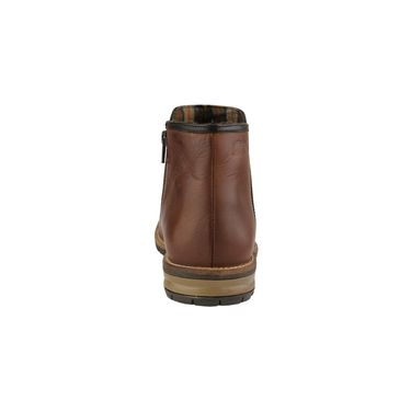 Delize Leather Casual Shoes T-0029-Brown