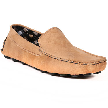 Ten Canvas Tan Loafers -ts183