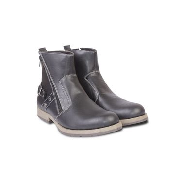 Faux Leather Black Boots -T08