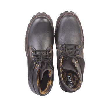 Faux Leather Black Boots -T15