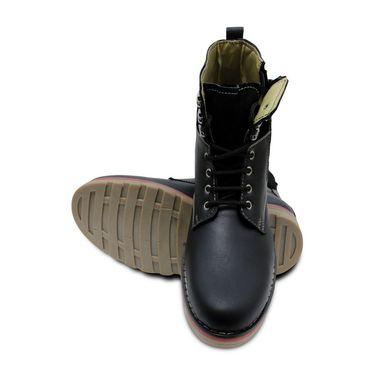 Faux Leather Black Boots -T18