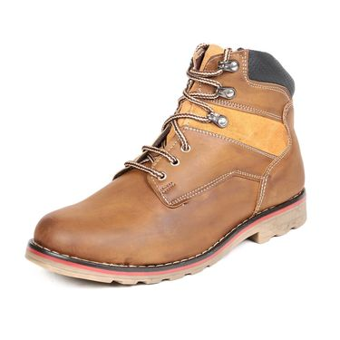 Faux Leather Tan Boots -T21
